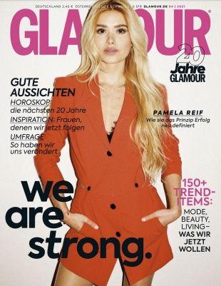 6 Ausgaben Glamour für 17,40€ + Prämie: 15€ Scheck
