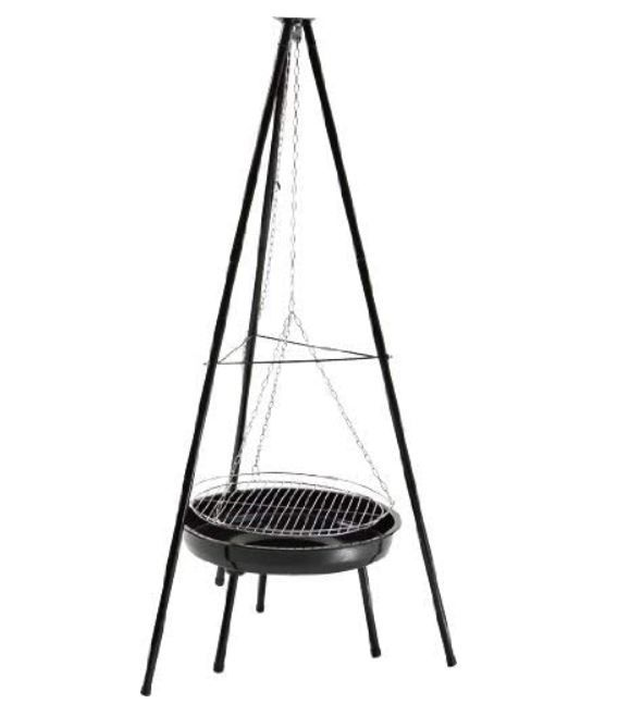 Landmann GRILLCHEF 150cm Holzkohle Schwenkgrill mit Feuerschale für 29,99€ (statt 35€)
