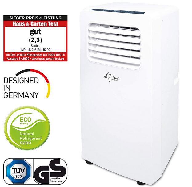 Suntec Impuls 2.6 Eco R290 mobiles Klimagerät 9.000BTU/h für 215,95€ (statt 254€)