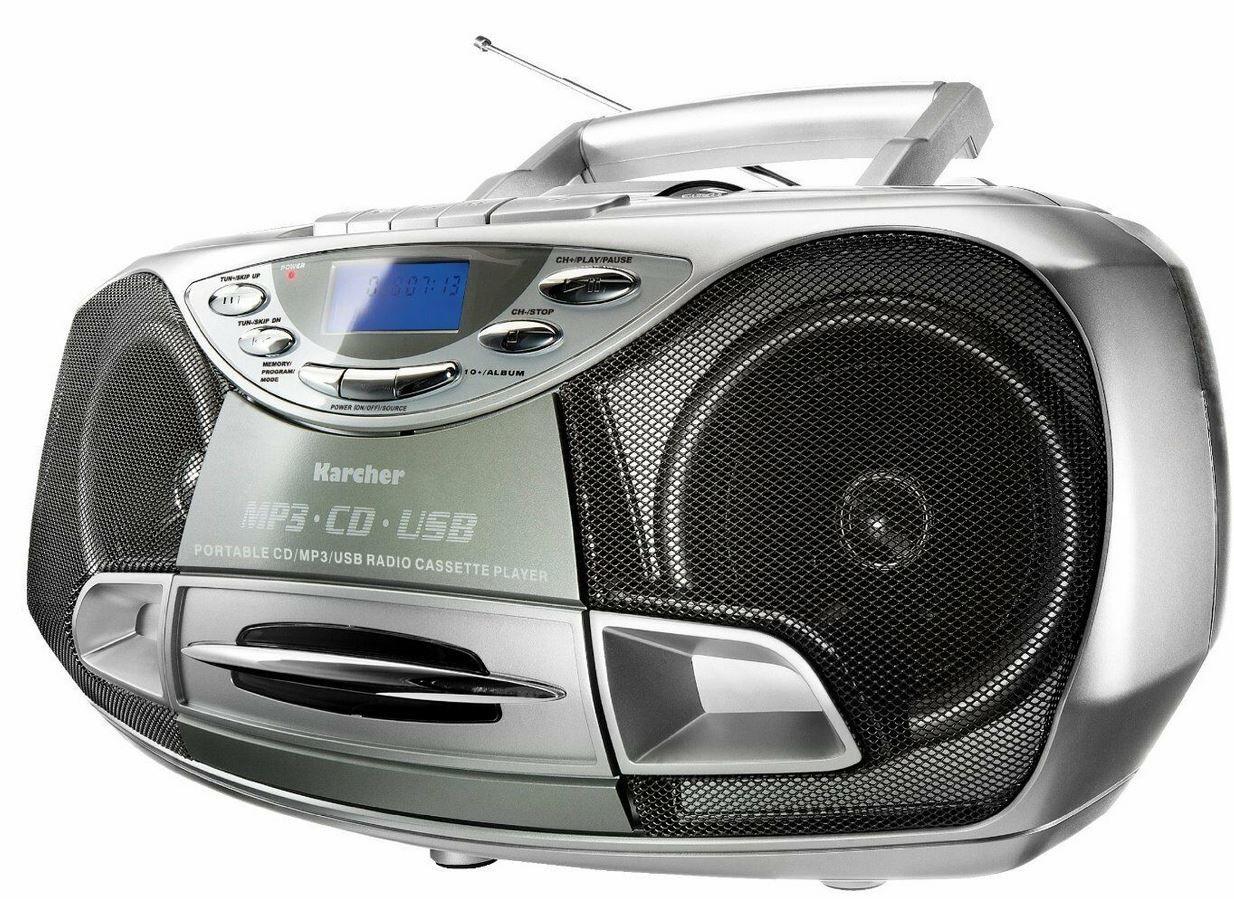 Karcher CD Radio RR 510N N   Boombox (CD Player, UKW Radio und USB) für 49,99€ (statt 70€)