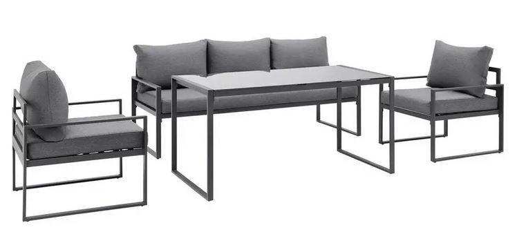 mondern living Louisiana Loungegarnitur 12teilig, Bank, Tisch, Stühle für 279,30€ (statt 478€)