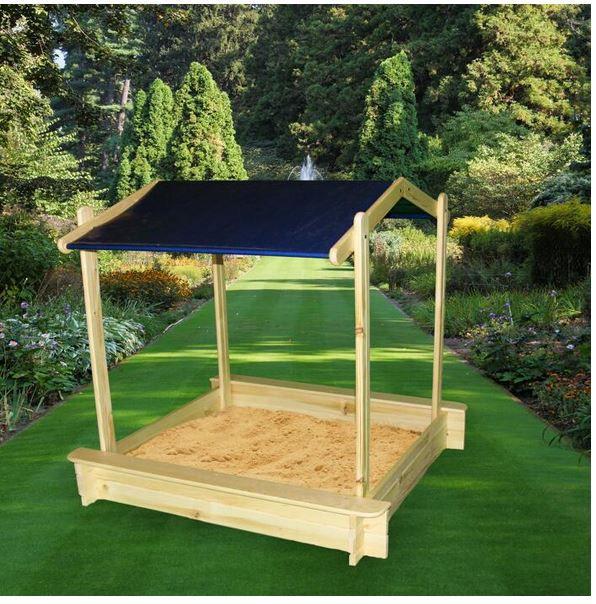 Promex Peter Pan Sandkasten mit Dach ab 49,99€ (statt 65€)