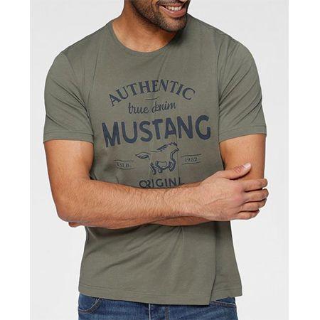 Mustang T-Shirt in verschiedenen Farben mit großem Brustprint für 12,94€ (statt 19,99€)