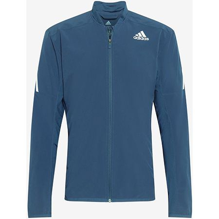 Adidas Performance Sportjacke  AERO  in dunkelblau / weiß für 32,94€ (statt 45€)