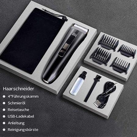 Sefon Kabellose Haarschneidemaschine mit vier Aufsätzen für 8,49€ (statt 17€)