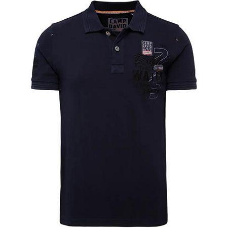 Camp David   Pikee Poloshirt mit Wasch Effekt und Print für 29,98€ (statt 53€)