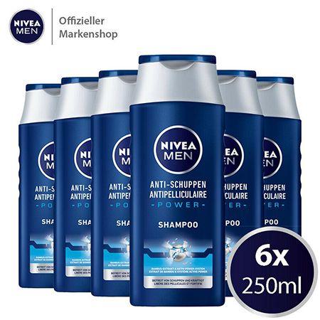 6x250ml NIVEA MEN Anti Schuppen Power Shampoo für 11,99€ (statt 18€)