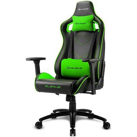 Sharkoon ELBRUS 2 Gaming Stuhl in schwarz/grün für 159,90€ (statt 195€)
