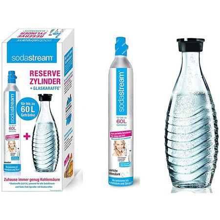 SodaStream CO2-Zylinder 60 L + 1 Glaskaraffe für 25,19€ (statt 41€)