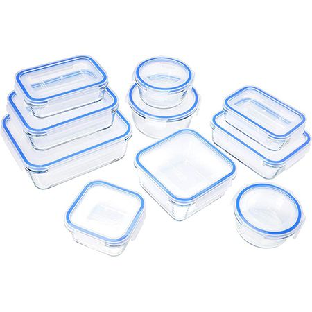 20 tlg. BPA Freie Glasbehälter Set für Lebensmittel mit Deckel für 14,67€ (statt 26€)