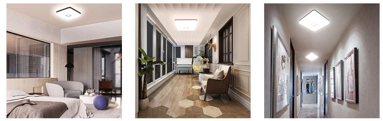 LED Deckenleuchten 24W (200W) Feuchtraum geeignet für je 15,59€ (statt 26€)