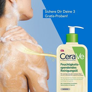 3 Gratis Feuchtigkeitsspendende Reinigungsöl von CeraVe gewinnen