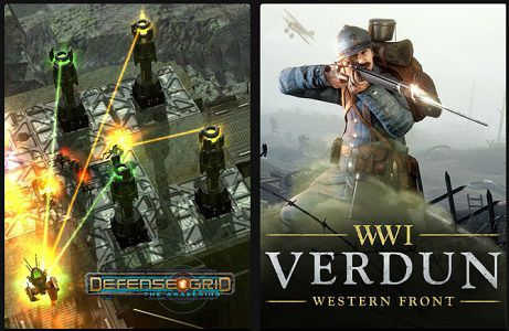 Epic Games: Defense Grid: The Awakening (IMDb 7,5/10) & Verdun (IMDb 7,3/10) gratis abholen