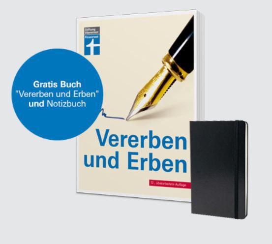 9 Ausgaben Finanztest für 30€ + Buch Vererben und Erben und Notizbuch gratis
