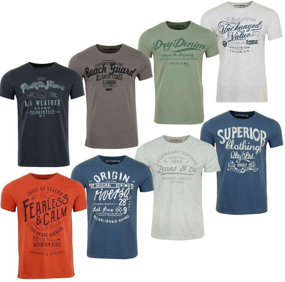riverso RIVLeon verschiedene Herren Print T Shirts für je 12,95€ (statt 19€)