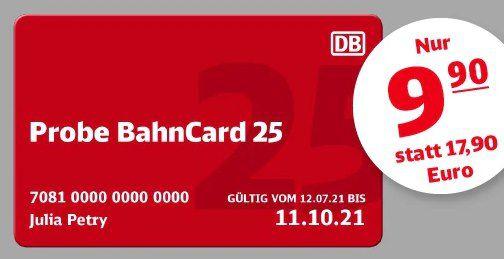 DB: 3 Monate Probe BahnCard 25 für je 9,90€ mtl. (statt 18€)