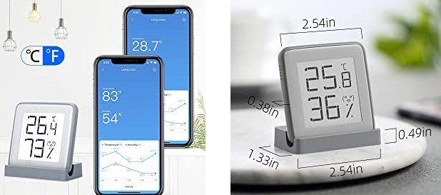 Azarton digitales Innenthermometer & Hygrometer mit E ink Display für 9,99€ (statt 16€)   Prime