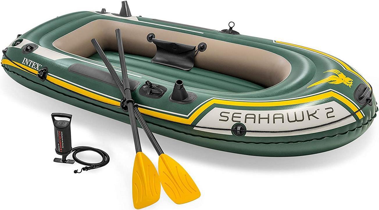 Intex Seahawk 2 Schlauchboot Set mit Rudern und Inflator für 42,25€ (statt 55€)