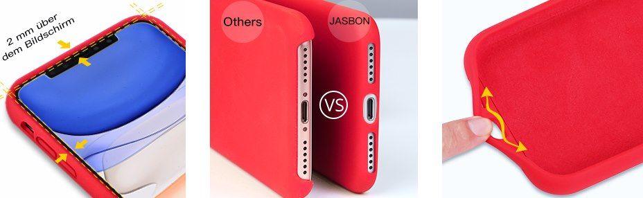 JASBON Silikonhülle für iPhone 11 in Grün für 7,49€ (statt 15€)   Prime