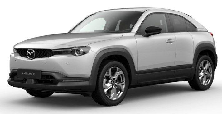 Privat: Mazda MX 30 Elektro mit 145 PS für 166,55€ mtl. – LF: 0.48 (inkl Full Service)