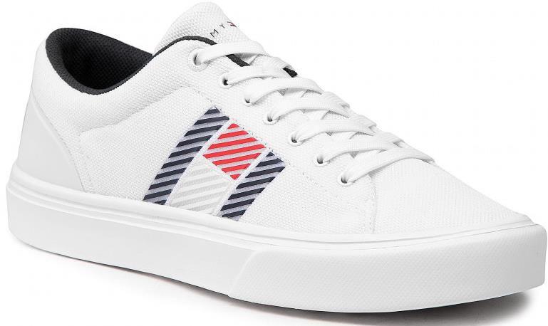 Tommy Hilfiger   Lightweight Stripes Knit Sneaker in weiß für 46,80€ (statt 65€)