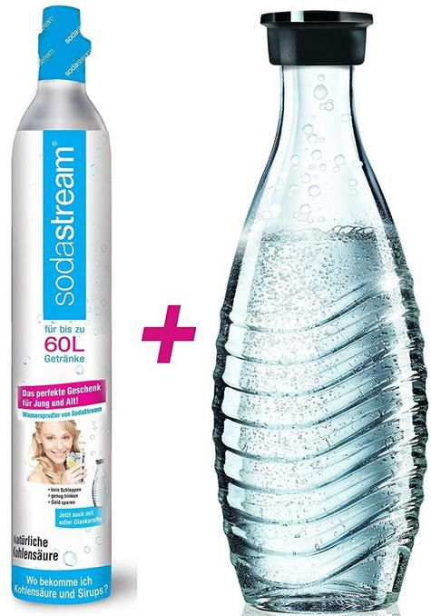 SodaStream CO2 Zylinder 60 L + 1 Glaskaraffe für 25,19€ (statt 41€)