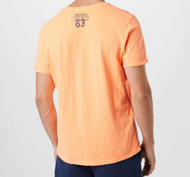 Camp David T Shirt in orange / schwarz für 13,96€ (statt 35€)