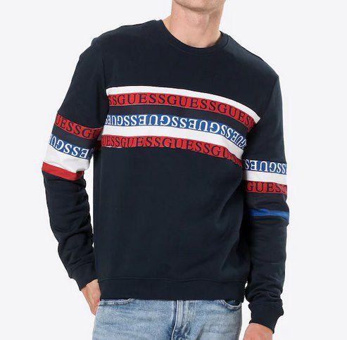 Guess Pullover CARLTON in Blau oder Weiß für je 23,90€ (statt 60€)