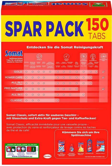 Somat Classic   Spülmaschinen Tabs 150er Sparpack für 6,39€ im Sparabo (statt 13€)