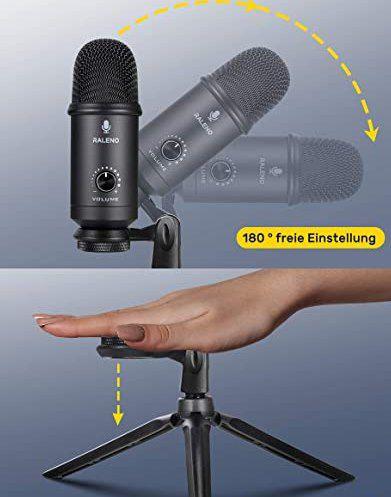 RaLeno M30 USB Mikrofon mit Stativ für 9,90€ (statt 30€)