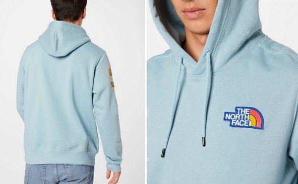 The North Face Hoodie Novelty Patch in Hellblau für 37,96€ (statt 84€)