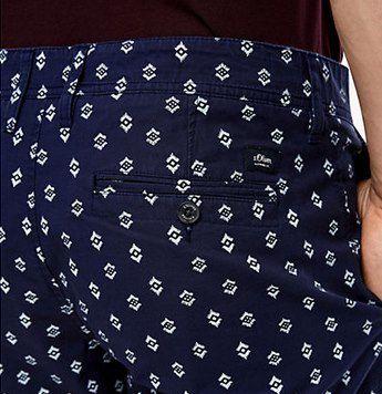 s.Oliver Bermuda Phoenix in Blau mit Print Shorts für 16,79€ (statt 32€)