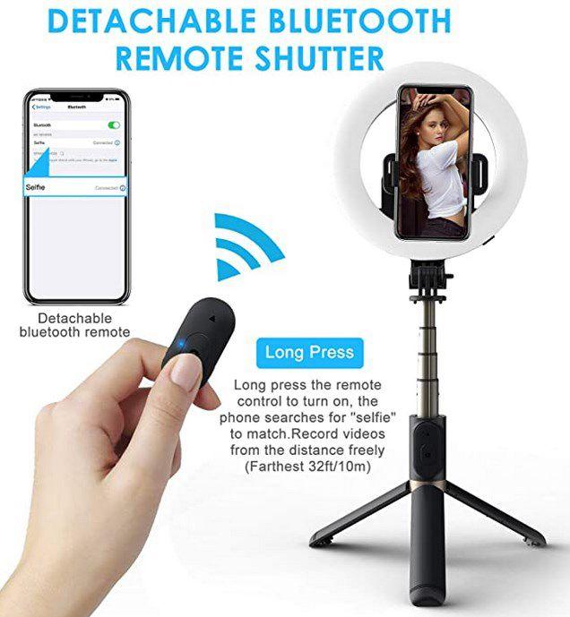Selfie Ringlicht mit Stativständer für 8,49€ (statt 17€)   Prime
