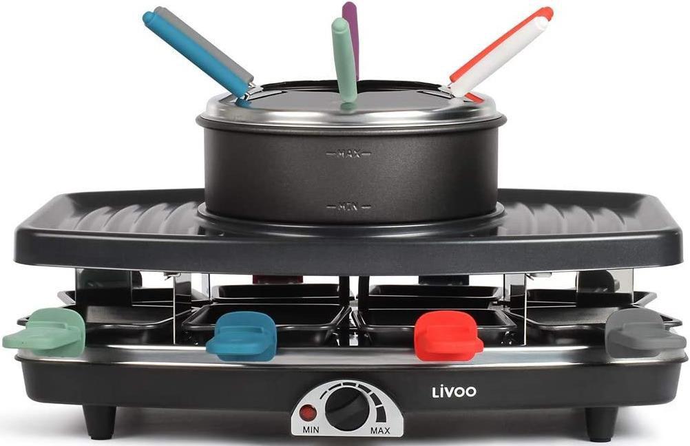Livoo Doc233   3in1 Raclette, Fondue und Elektrogrill für 39,20€ (statt 62€)