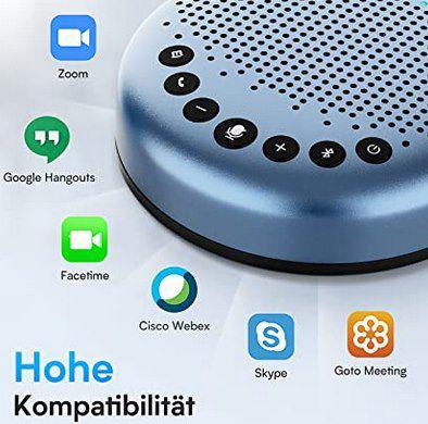 eMeet Bluetooth Konferenzlautsprecher   Luna Lite USB Freisprecheinrichtung für 5 10 Personen für 59,99€ (statt 80€)