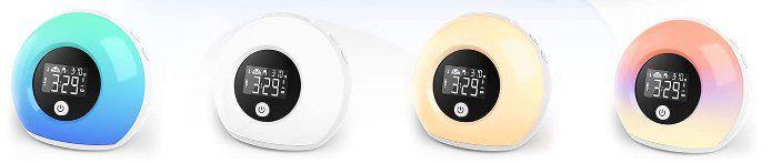 Apkyo RGB Wake Up Wecker mit BT 5.0 & Vibrationssensor für 14€ (statt 35€)