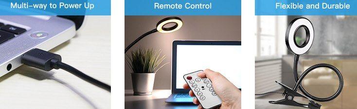 Klemmlampe mit 40 LEDs, 3 Stufen & 5 Farbtemperaturen für 6,99€ (statt 15€)   Prime