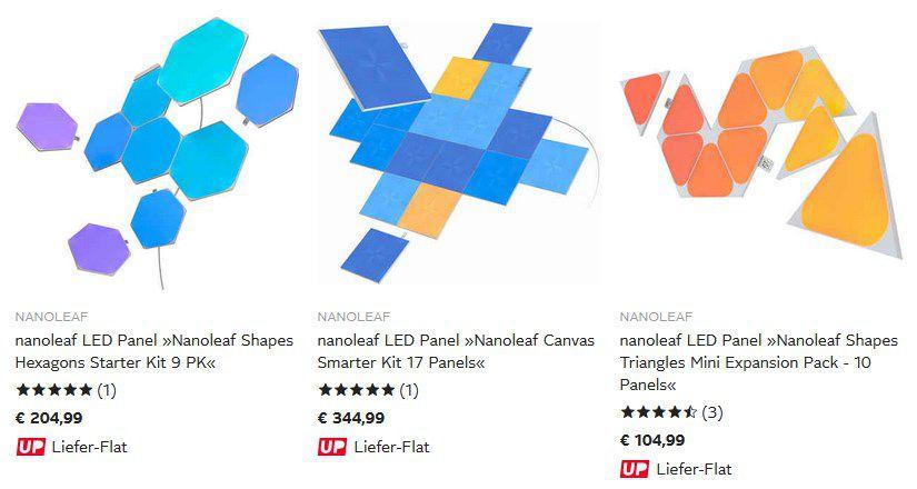20% Rabatt auf Nanoleaf Produkte bei OTTO   Starter Set mit 9 Lampen für 166,94€ (statt 190€)