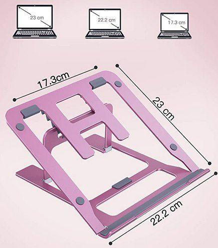 LORYERGO Laptop Ständer bis 15,6 Zoll in Rosa für 4,50€   Prime