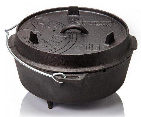 Petromax Feuertopf ft6 Dutch Oven mit Füßen inkl. Deckelheber für 62,90€ (statt 78€)
