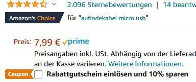 2er Pack: Wingstime Micro USB Kabel (2m) in Grau für 3,99€ (statt 8€)   Prime