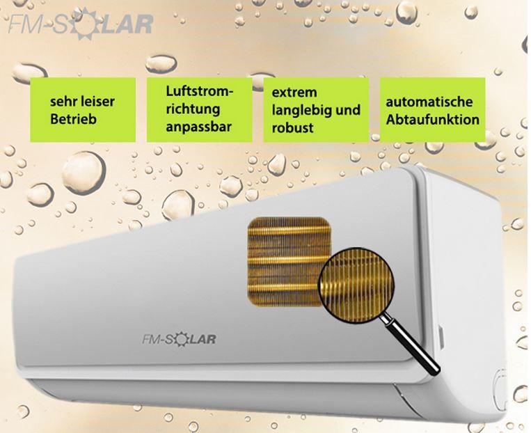FM Solar   Split Klimaanlage 9000BTU Inverter für 399,95€ (statt 449€)