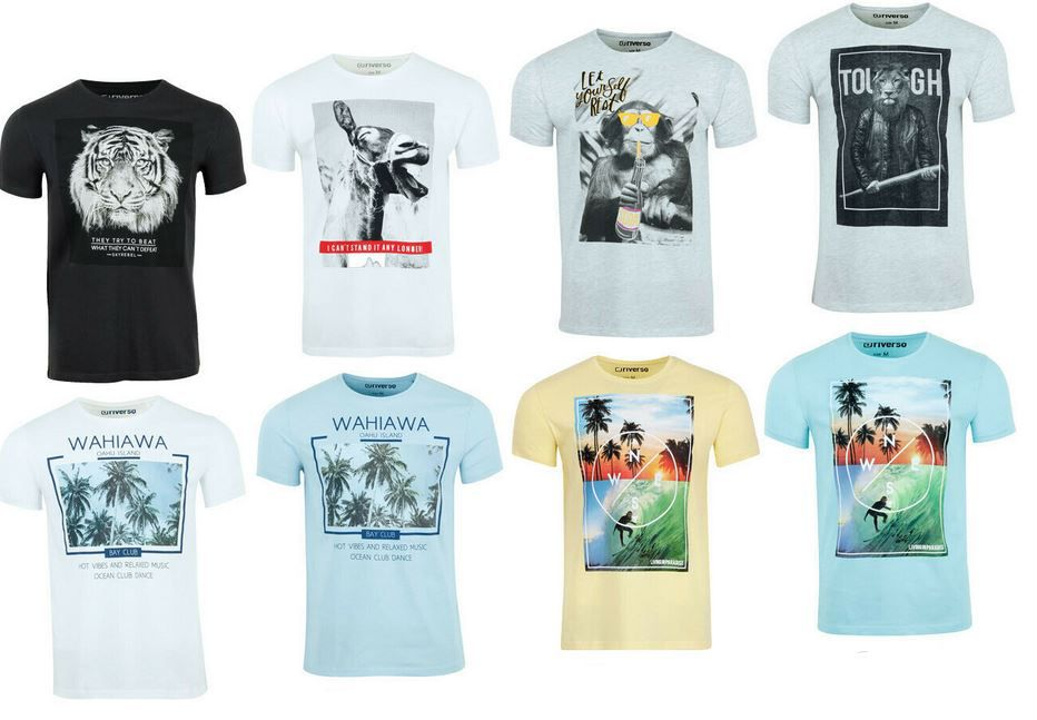 riverso RIVLukas   4er Pack Herren T Shirts bis 5X für 39,95€ (statt 50€)
