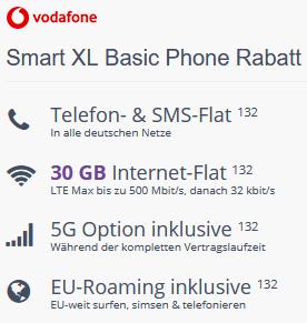Apple iPhone 12 mit 64 GB in Schwarz für 3,99€ + Vodafone Basic Flat mit 30GB LTE für 39,99€ mtl.