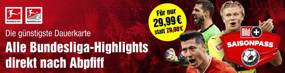 1 Jahr BILDplus inkl. Bundesliga (1. & 2. Liga) Highlights nach Abpfiff für 29,90€ (statt 80€)
