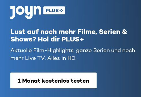 1 Monat Joyn PLUS+ Premium mit über 40.000 Filme & Serien gratis (statt 7€)