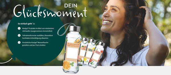 Mit dem Kauf von Kneipp Produkten personalisierte Wasserflasche ergattern