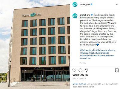 Gratis: Zimmer für Hochwasserbetroffene in Motel One in Köln, Bonn und Essen