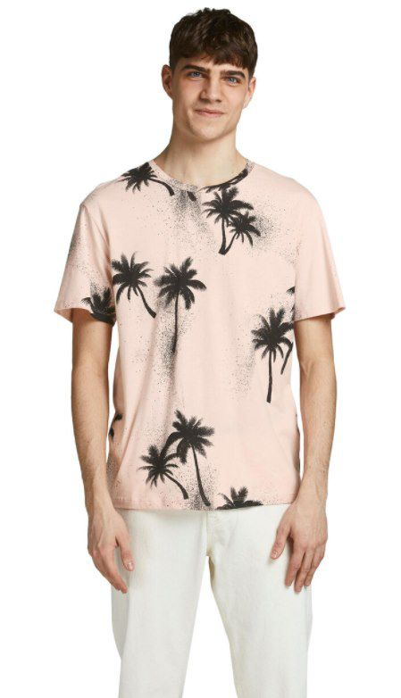 3er Pack Jack & Jones T Shirt mit Palmen Print für 26,92€ (statt 40€)