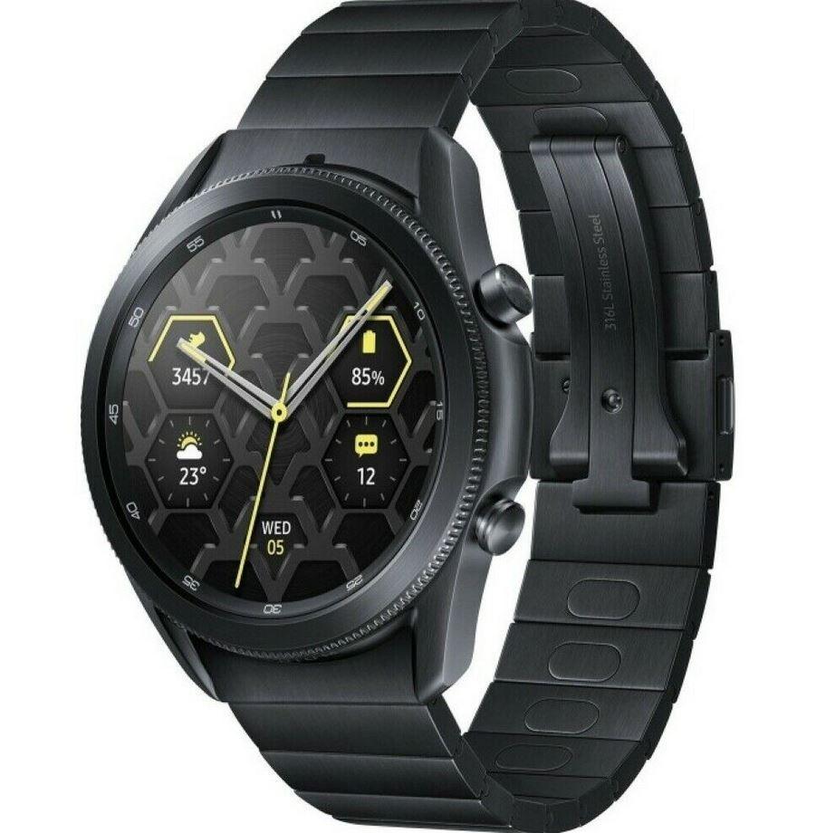 Samsung Galaxy Watch 3 Titanium Smartwatch 45mm Mystic Black für 349,99€ (statt 503€)